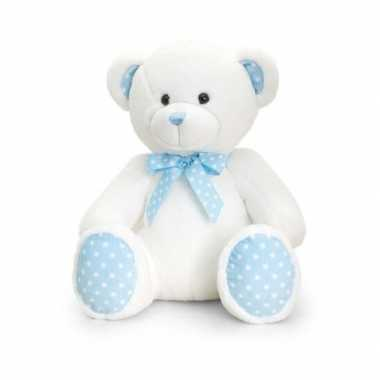 Pluche knuffelbeer blauw baby boy kopen