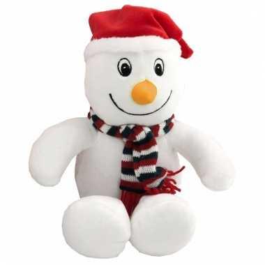 Pluche knuffeltje sneeuwpop kopen