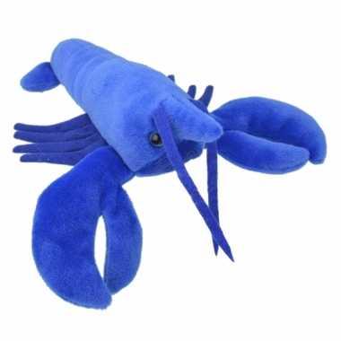 Pluche kreeft knuffeldier blauw kopen