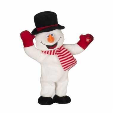 Pluche sneeuwpop kerst muziek kopen