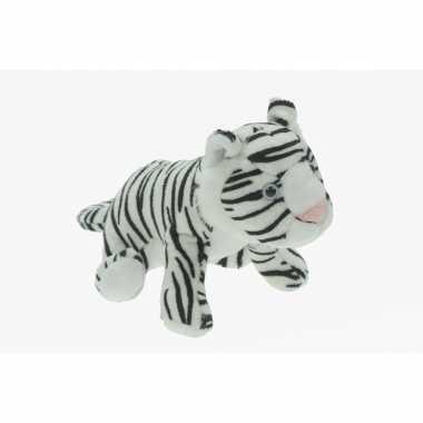Pluche tijger knuffeldier wit speelgoed kopen