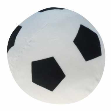 Pluche voetbal wit zwart kopen