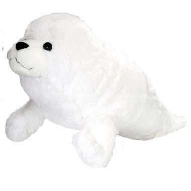 Pluche witte knuffel zeehond kopen