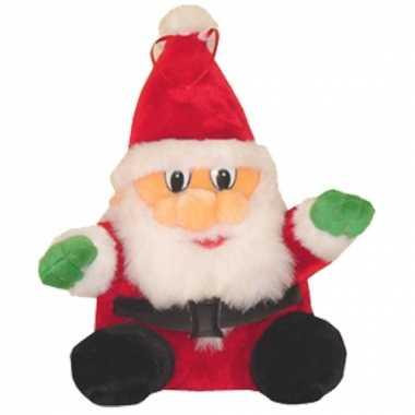 Pluche zittende kerstman kopen