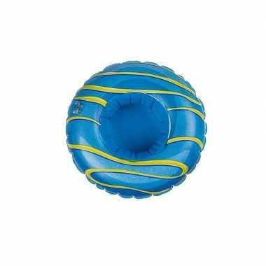 Poppen/knuffels zwembanden blauw donut kopen
