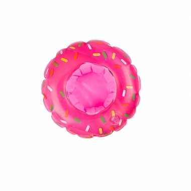 Poppen/knuffels zwembanden roze donut kopen