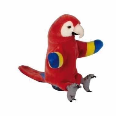 Rode ara/papegaaien handpop pluche cm kopen