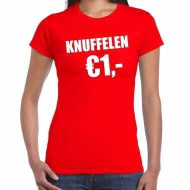 Rood knuffelen euro fun shirtje feest t shirt dames kopen