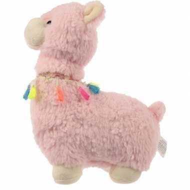Roze alpaca/lama deurstopper/deurwig kopen