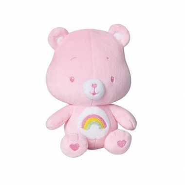 Roze troetelberen knuffel rammelaar kopen