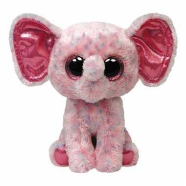Roze Ty Beanie knuffel olifanten kopen