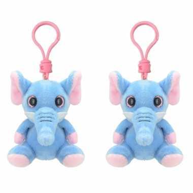 Set stuks pluche knuffel olifant sleutelhanger kopen