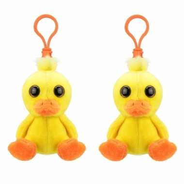 Set stuks pluche mini baby eend knuffel sleutelhanger kopen