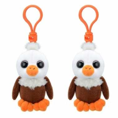 Set stuks pluche mini knuffel vogel adelaar sleutelhanger kopen