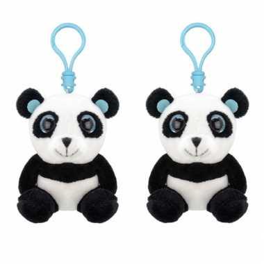 Set stuks pluche mini panda knuffel sleutelhanger kopen