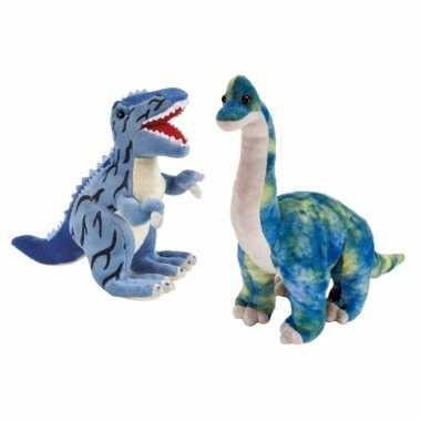 Setje knuffel dinosaurussen t rex brachiosaurus kopen