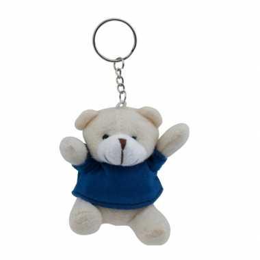Teddybeer sleutelhangertje blauw kopen