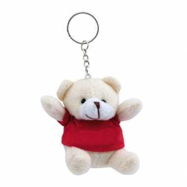 Teddybeer sleutelhangertje rood kopen