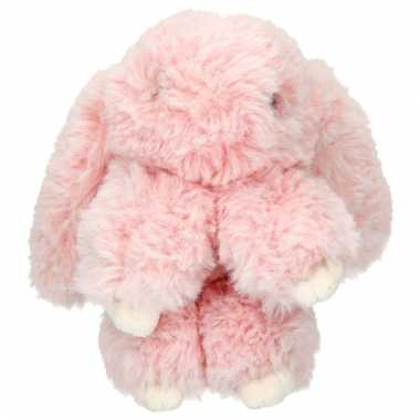 Topmodel knuffelhanger konijn lichtroze kopen