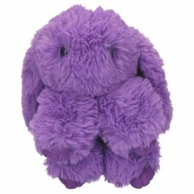 Topmodel knuffelhanger konijn paars kopen