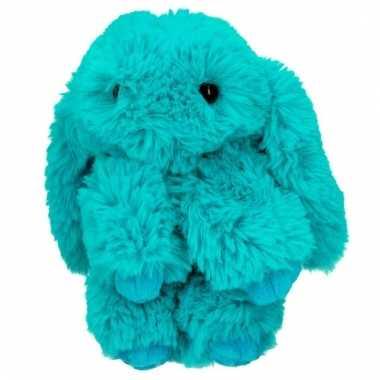Topmodel knuffelhanger konijn turquoise kopen