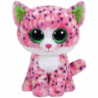 Ty beanie boo's pluche poes cm roze kopen