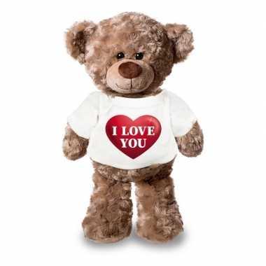 Valentijn i love you knuffelbeer hartje kopen