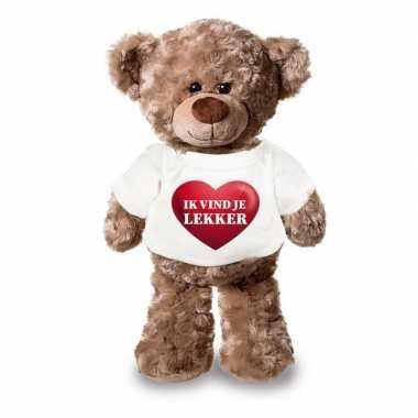Valentijn ik vind je lekker knuffelbeer hartje kopen