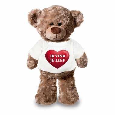 Valentijn ik vind je lief knuffelbeer hartje kopen