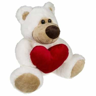 Valentijnscadeau knuffelbeer rood hartje kopen
