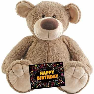 Verjaardagcadeau beer bella knuffel happy horse gratis verjaardagskaart kopen