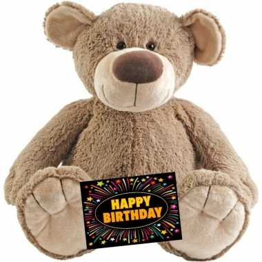 Verjaardagcadeau beer bella knuffel happy horse + gratis verjaardagsk