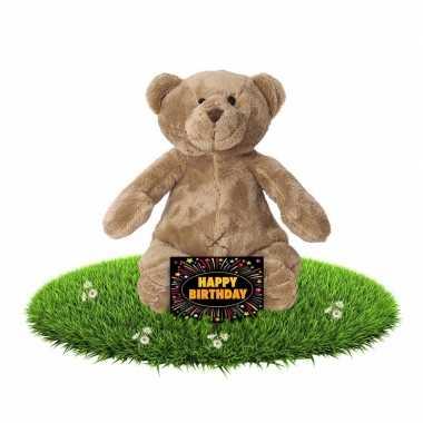 Verjaardagcadeau beren knuffel + gratis verjaardagskaart kopen