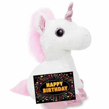 Verjaardagcadeau eenhoorn knuffel ty beanie gratis verjaardagskaart kopen 10105507