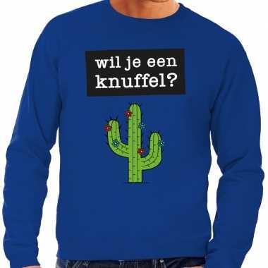 Wil je een knuffel fun sweater blauw heren kopen