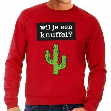 Wil je een knuffel fun sweater rood heren kopen
