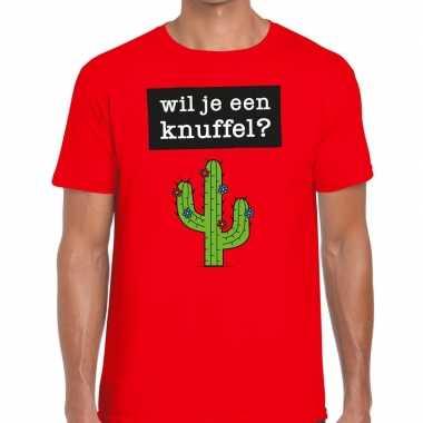 Wil je een knuffel fun t shirt heren rood kopen