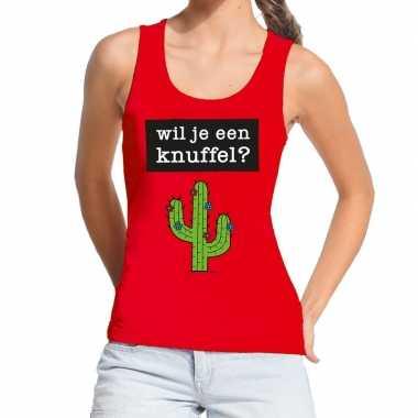 Wil je een knuffel fun tanktop / mouwloos shirt rood dames kopen