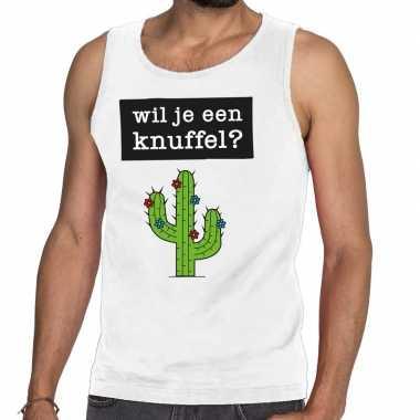 Wil je een knuffel fun tanktop / mouwloos shirt wit heren kopen