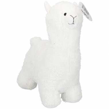 Witte alpaca/lama deurstopper/deurwig kopen