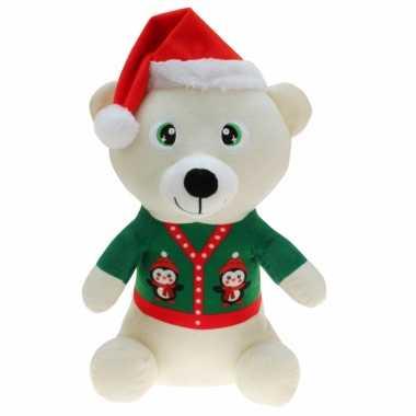 Witte beren knuffelbeer kerstknuffels speelgoed kopen
