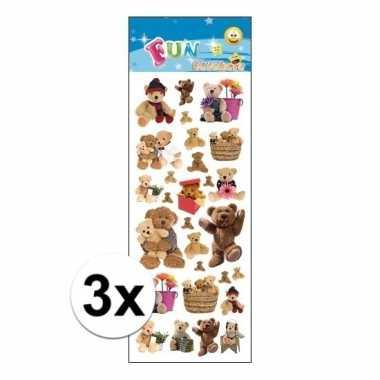 X kinder teddyberen stickers kopen