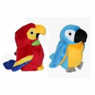 X pluche ara papegaai knuffels kopen