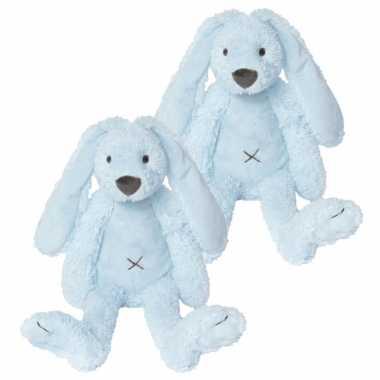 X stuks blauw knuffel konijn kopen
