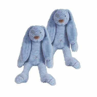 X stuks denim blauw knuffel konijn richie kopen