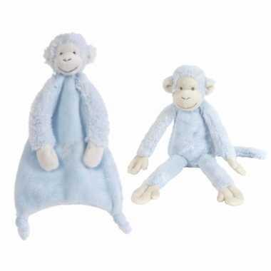 X stuks happy horse aapjes blauw tuttel knuffel mickey kopen