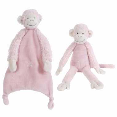 X stuks happy horse aapjes roze tuttel knuffel mickey kopen