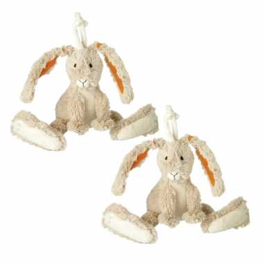 X stuks happy horse pluche knuffel konijn twine kopen