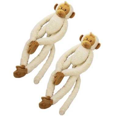 X stuks happy horse pluche knuffel witte slinger aap kopen