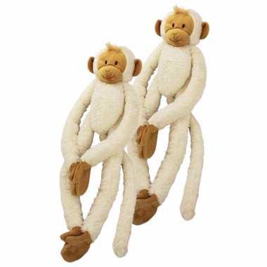 X stuks happy horse pluche witte slinger aap knuffel kopen
